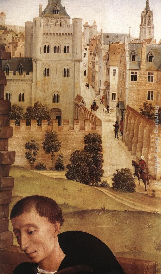 Bladelin Triptych central panel [detail 3] painting - Rogier van der Weyden Bladelin Triptych central panel [detail 3] art painting